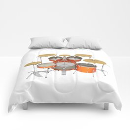 Orange Drum Kit Comforters