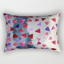 Geo Storm - painted triangles on a watercolor background Rectangular Pillow