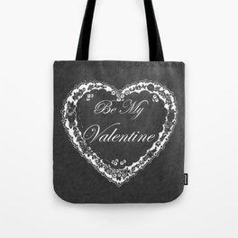 Be My Vintage Valentine Chalkboard Tote Bag