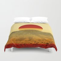 outdoor Duvet Covers featuring Warm abstraction by Stoian Hitrov - Sto