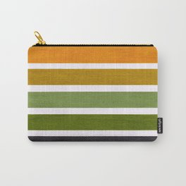 Olive Green & Hazel Brown Geometric Pattern Carry-All Pouch