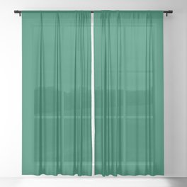 Solid Emerald Sheer Curtain