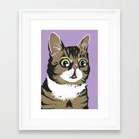 lil bub Framed Art Prints featuring Lil Bub by Noelle Posadas