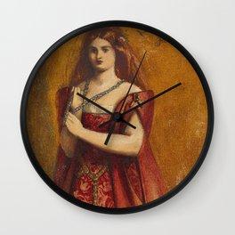 "Dante Gabriel Rossetti ""Dressed in Red"" Wall Clock"