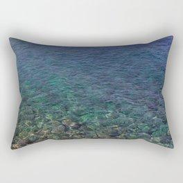 Colorful Transparent Blue and Aqua Sea On Crete Rectangular Pillow