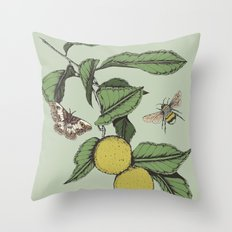Lemons in Spring Throw Pillow