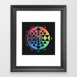 Maverick Rainbow Sri Yantra Framed Art Print