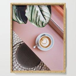 pink latte Serving Tray