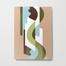 SUISSE - Art Deco Modern: GENTLEMEN'S CLUB Metal Print