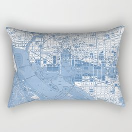 Washington DC Map Rectangular Pillow
