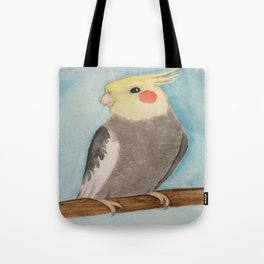 Red Cheeked Cockatiel Tote Bag