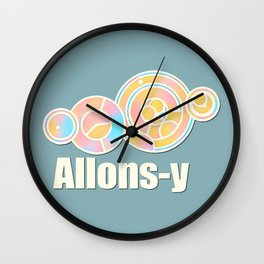 Allons-y in Circular Gallifreyan Wall Clock