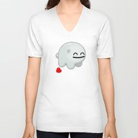 snatch V-neck T-shirts featuring Lovestruck Lump by Shawnimals