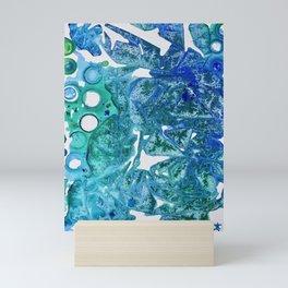 Sea Leaves, Environmental Love of the Ocean Blue Mini Art Print