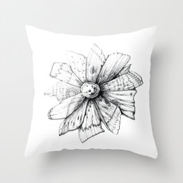Mothflower Throw Pillow