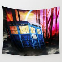dr who Wall Tapestries featuring dr who by shannon's art space
