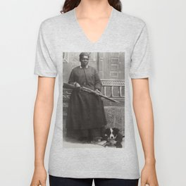 Mary Fields, First African-American Woman Mail Carrier Unisex V-Neck