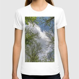 Clouds and trees tops T-shirt