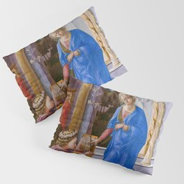 """Fra Filippo Lippi """"Annunciation with two Kneeling Donors"""" Pillow Sham"""