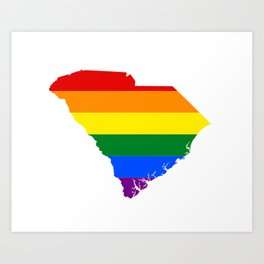 LGBT South Carolina Art Print