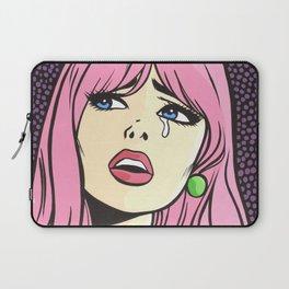Pink Bangs Sad Girl Laptop Sleeve
