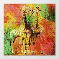 giraffe Canvas Prints featuring Giraffe  by Saundra Myles