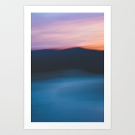 Mountain Sunset Abstract Art Print