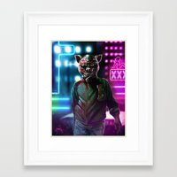 hotline miami Framed Art Prints featuring Jacket - Hotline Miami. by Gerkyart.