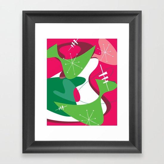 Retro Romp Framed Art Print