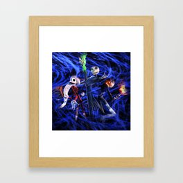 Nightmare Of Shadow Framed Art Print