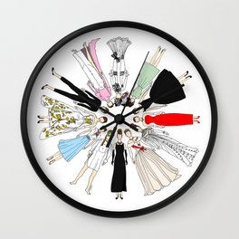 Outfits of Audrey Fashion (White) Wall Clock