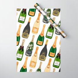 Champagne Bottles Wrapping Paper