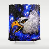 eagle Shower Curtains featuring Eagle by Saundra Myles