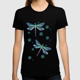 Dragonfly Mystic Jeweled Folk Art T-shirt