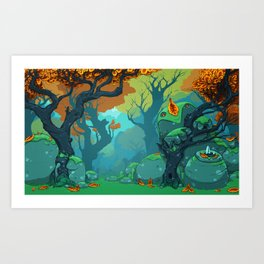 End of Fall Art Print