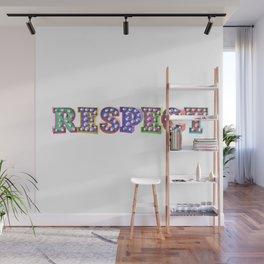 R – E – S – P – E – C – T – Pop Bulb Wall Mural