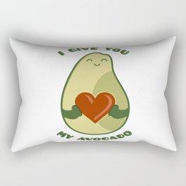 Avocado - I give you my avocado #society6 Rectangular Pillow