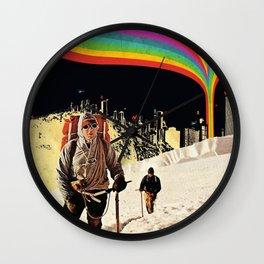 Rainbow Horizon Wall Clock