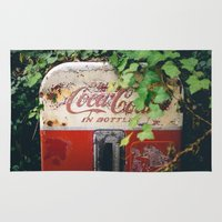 coca cola Area & Throw Rugs featuring Hidden Coca-Cola by Davin Fitch