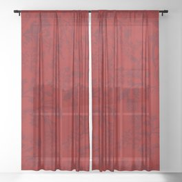 Old fashioned in red Sheer Curtain