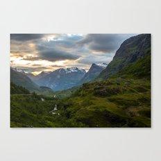 Geiranger Valley Canvas Print