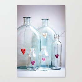 Bottled love Canvas Print