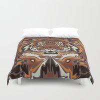 tigers Duvet Covers featuring Tigers by Darish