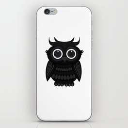 Black Owl iPhone Skin