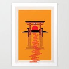 Tori Gate Art Print