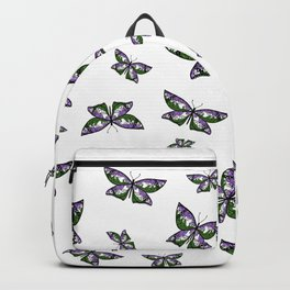 Fly With Pride: Genderqueer Flag Butterfly Backpack