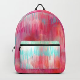 Color Song - abstract in pink, coral, mint, aqua Backpack