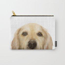 Golden retriever Dog illustration original painting print Carry-All Pouch