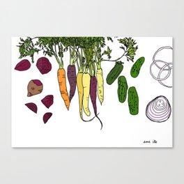 Colorful Vegetables Canvas Print