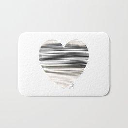 Artsy Heart 1 by Kathy Morton Stanion Bath Mat